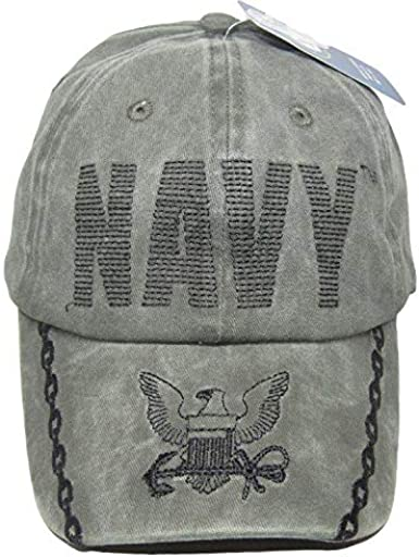 NAVY USN Olive Stitched Letters Embroidered Cap Hat Licensed CAP596CMG TOPW U.S