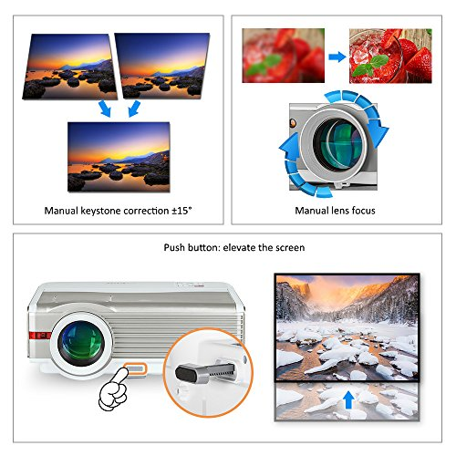 EUG X99 Multimedia Video Projector 1080p HD LED Home