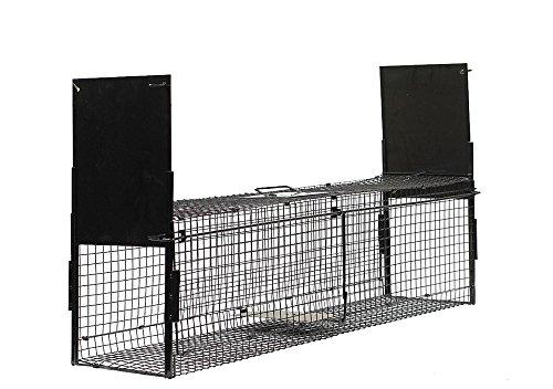 Animal Door Trap 2 (HopeSun Collapsible 2-doors Humane Live Animal Trap (Large 40
