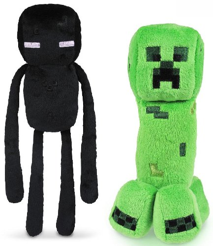 "Minecraft 7"" Plush Enderman & Creeper Set Of 2 4"
