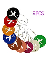 Willcome 9 Packs Travel Luggage Tags, Suitcase Bag Labels, Travel ID Bag Tag Airlines Baggage Labels