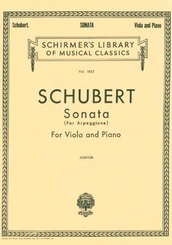 Sonata per Arpeggione: Viola and Piano