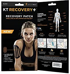 KT TAPE Recovery Drug-Free Elastic Edema Patches (4 Patches), Black