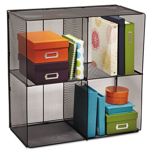 Black Cube Onyx (Safco Home Office Products Onyx Mesh Cubes, Black-Bl)