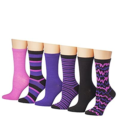 Tipi Toe Women's 12-Pairs Lightweight Solid Colored Crew Socks