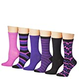 tipi toe womens 12 pairs lightweight solid colored crew socks