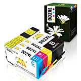 CMCMCM Updated Remanufactured Ink Cartridges for HP 902XL 902 XL Work for OfficeJet Pro 6978 6962 6968 6960 6970 6954 6958 6975 6950 6951 6979 Printer (Black, Cyan, Yellow, Magenta)