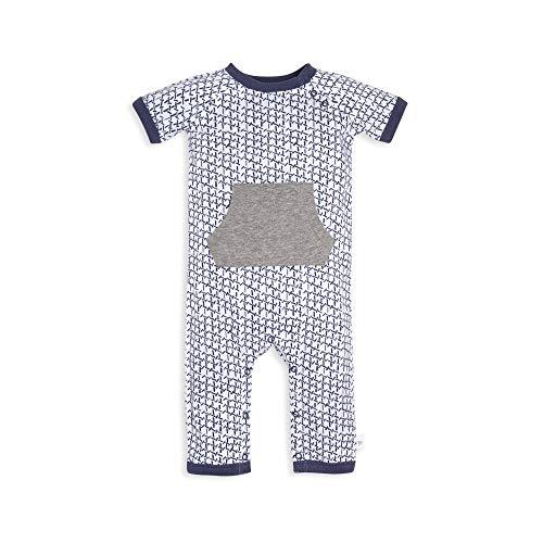Boys Long Sleeve Tie Dye - Burt's Bees Baby Baby Boys Romper Jumpsuit, 100% Organic Cotton One-Piece Coverall, Indigo Tie Dye, 0-3 Months