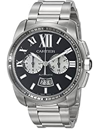 Mens W7100061 Analog Display Swiss Automatic Silver Watch. Cartier