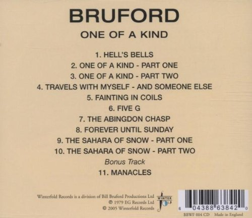 Bruford Bill One Of A Kind Music