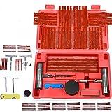 57PCS Tire Repair Tool,123Loop 57pc Tire Repair Kit Plug DIY Flat Tire Repair Car Truck Motorcycle Mend Patch