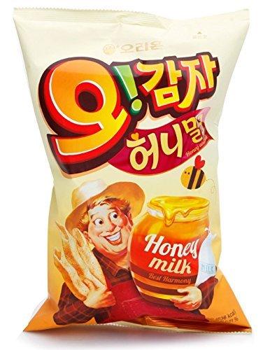 (5P Big Size Korea Potato Snack Oh Gam Ja (115g X 5) Honey Milk Taste)