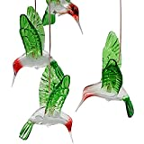 Naladoo Color-Changing Led Solar Mobile Wind Chime, Solar Powered LED Hanging Lamp Wind Chime Light for Outdoor Indoor Gardening Lighting Decoration Home (Hummingbird)