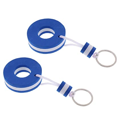 Sharplace 2X Llavero de Flotante Color Azul - Patrón boya de ...