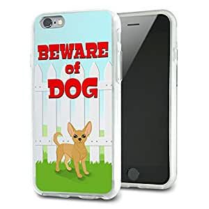 Beware of Dog Funny Chihuahua Slim Fit Hybrid Case Fits Apple iPhone 6