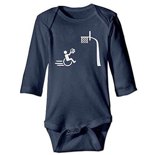 Wheelchair Basketball Baby Long Sleeves Climbing Clothes Unisex Outfit Rompers Size 24 Months Navy Novelty