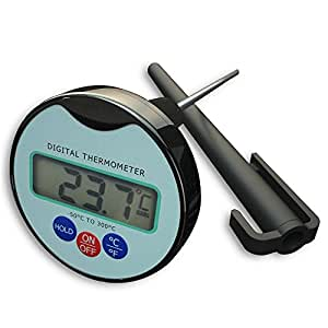 NEWZOR Digital Kitchen Food Thermometer Cooking Thermometer Instant Read for Grilling BBQ with Long Stainless Steel Probe Premium Pen Thermometer