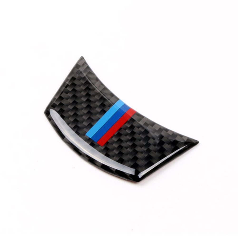 S WEKA Carbon Fiber Steering Wheel Sticker M Stripe Emblem 3D Car Sticker for BMW e60 e61 5 Series