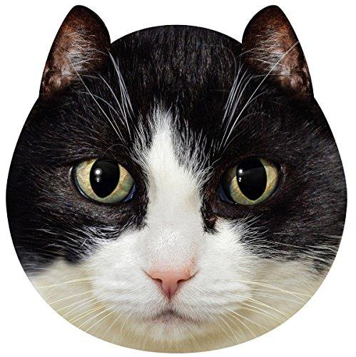 Cat Face Fleece Throw Blanket (Black Cat)