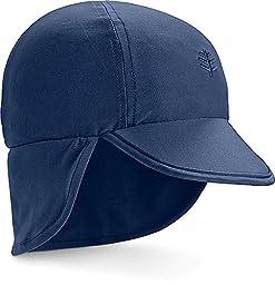 Coolibar UPF 50+ Baby Splashy All Sport Hat - Sun Protective (6-12 Months - Navy)