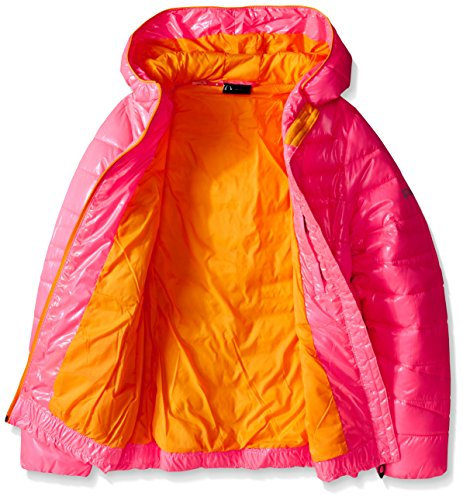 Big Girls' Down Coat Timeless Hooded Puffer Bubblegum Bryte Spyder pSqx5aw5