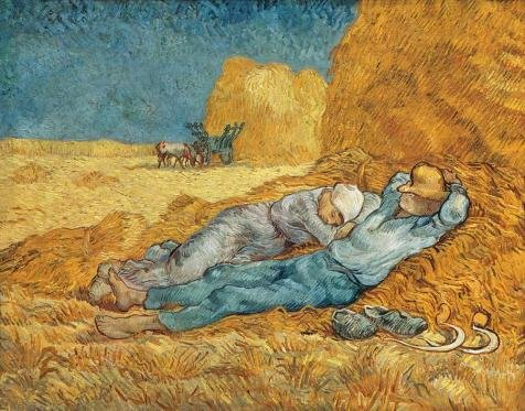 Price comparison product image Oil painting 'The Siesta-Vincent van Gogh,1890' printing on high quality polyster Canvas , 20x26 inch / 51x65 cm ,the best dining Room decor and Home gallery art and Gifts is this High Resolution Art Decorative Canvas Prints
