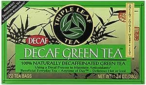 Triple Leaf Tea, Decaf Green Tea, 20 Tea Bags (Pack of 6)