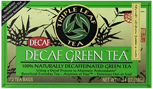 Triple Leaf Tea, Decaf Green Tea, 20 Tea Bags (Pack of 6)