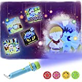 Kids Flashlight Projector Screen Bed Time Toy Night Light Anime Torch 4 Themes and 32 Patterns for Baby Toddlers