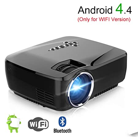 XY-store Android WiFi proyector Bluetooth, 1080P 1200 lúmenes ...