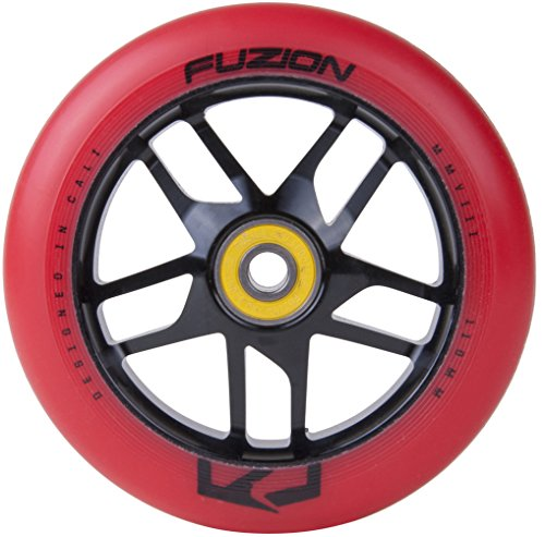 Fuzion Pro Scooters Trace Wheel (Black Ano with Red) (Nextsport Fuzion Scooter)
