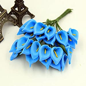 Nyalex 12pcs Mini Foam Calla Handmade Artificial Flowers Wedding Bouquet DIY Wreath Craft Fake Flower Home Decoration 73