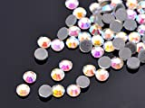 Clear Ab SS10-3MM-10Facets-500pcs SS10 SS16 SS20 SS30 SS40 Hotfix Rhinestones Iron-on Flatback Crystal Glass DMC