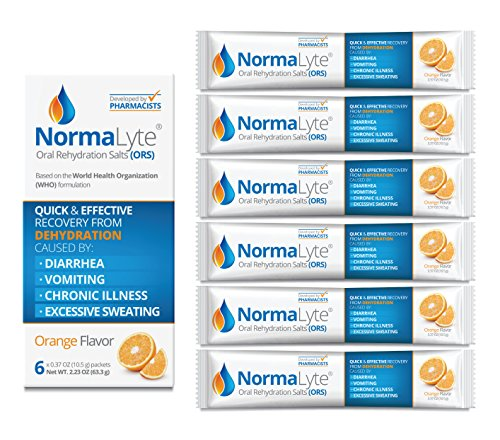 (NormaLyte Oral Rehydration Salts, Orange, 6 Pk (Yields 500mL per pack))