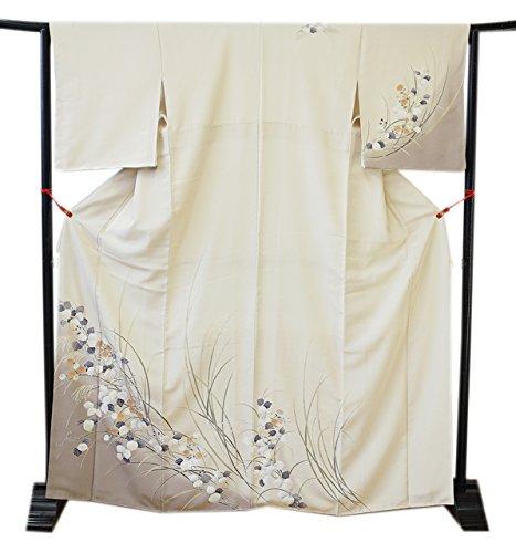 博多着物市場 きものしらゆり 新品 裄68.2cm ロング寸 L 極上ちりめん 高級 訪問着 正絹 仕立て上り 身長157cm~165cmの方に最適