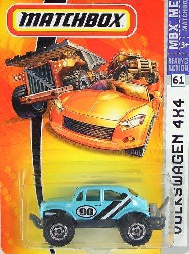 Matchbox MBX Metal VW Volkswagen 4x4 Bug Beetle Baja Aqua Blue #61 (Volkswagen Bug Baja)