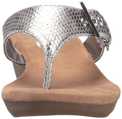 Flower Aerosoles Silver Sandal Wedge Women's Snake RRrfz5x