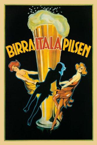 Vintage Collectible Dancing Glass - Italian Girls Dancing Dance Around Beer Glass Birra Itala Pilsen Italy Italia 12