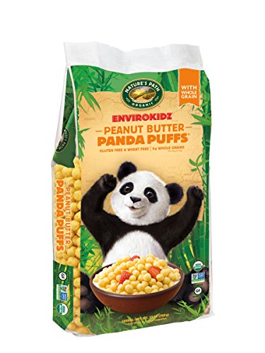 EnvirokidzOrganic Gluten-Free Cereal, Peanut Butter Panda Puffs, 25 Ounce Bag (Pack of (Envirokidz Panda Puffs)
