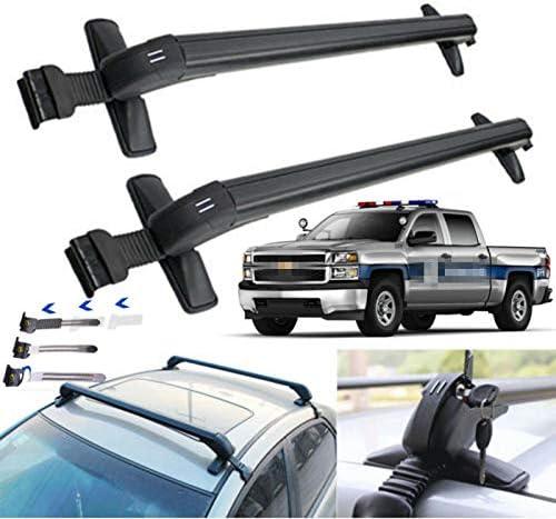 Aluminum Car Top Luggage Roof Rack Cross Bar Carrier Adjustable Window Frame US