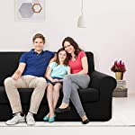 Deconovo Full Coverage Stretch Couch Covers 2-Piece Elastic Fabric Jacquard Sofa Cover Anti-Slip Polyester Spandex…