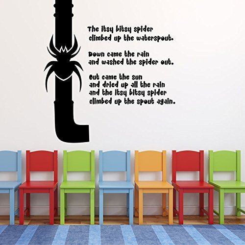 Nursery Rhyme Wall Decals Itsy Bitsy Spider Vinyl Home Decoration For Childrens Bedroom Or