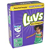 Health & Personal Care : Luvs Ultra Leakguards Size 6 Diapers - 21 CT