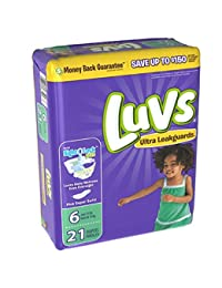Luvs Ultra Leakguards Size 6 Diapers - 21 CT BOBEBE Online Baby Store From New York to Miami and Los Angeles