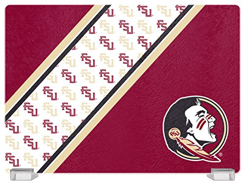 NCAA Florida State Seminoles Tempered Glass Cutting Board with Display Stand