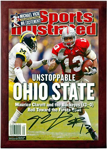 Maurice Clarett Sports Illustrated Autograph Replica Super Print - Unstoppable - Ohio State Buckeyes - 12/2/2002 - Framed - State 2002 Football Ohio Buckeyes