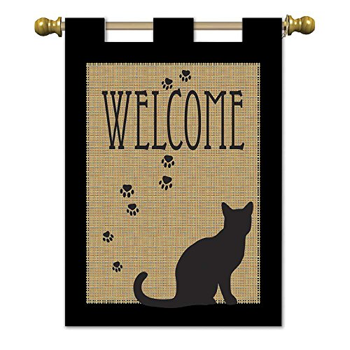 Magnolia 01817 Pawprints Cat Welcome Garden Flag, 13
