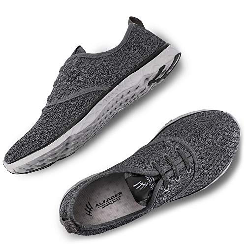 ALEADER Men's Stylish Quick Drying Water Shoes Gray 9.5 D(M) US