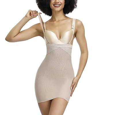 FeelinGirl Women Slimming Full Slip for Under Dresses Full Body Shaping Control Slip at Women's Clothing store