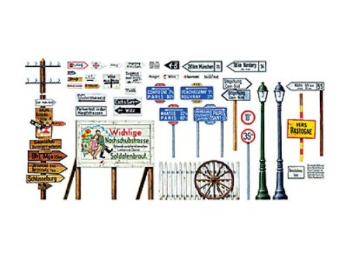 Tamiya Road Sign Set 1:48 Scale Military Model Kit